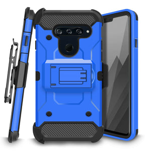 Storm Tank Rugged Armor LG V40 ThinQ Case Holster - Blue