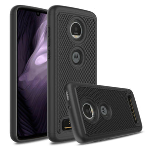 Shockproof Grippy Hybrid Motorola moto z4 Case - Black