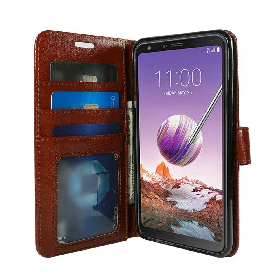 Essential Leather Wallet LG V40 ThinQ Case - Brown