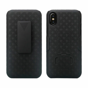 Verizon iPhone XS MAX Fitted Shell Case Rugged Holster Belt Clip