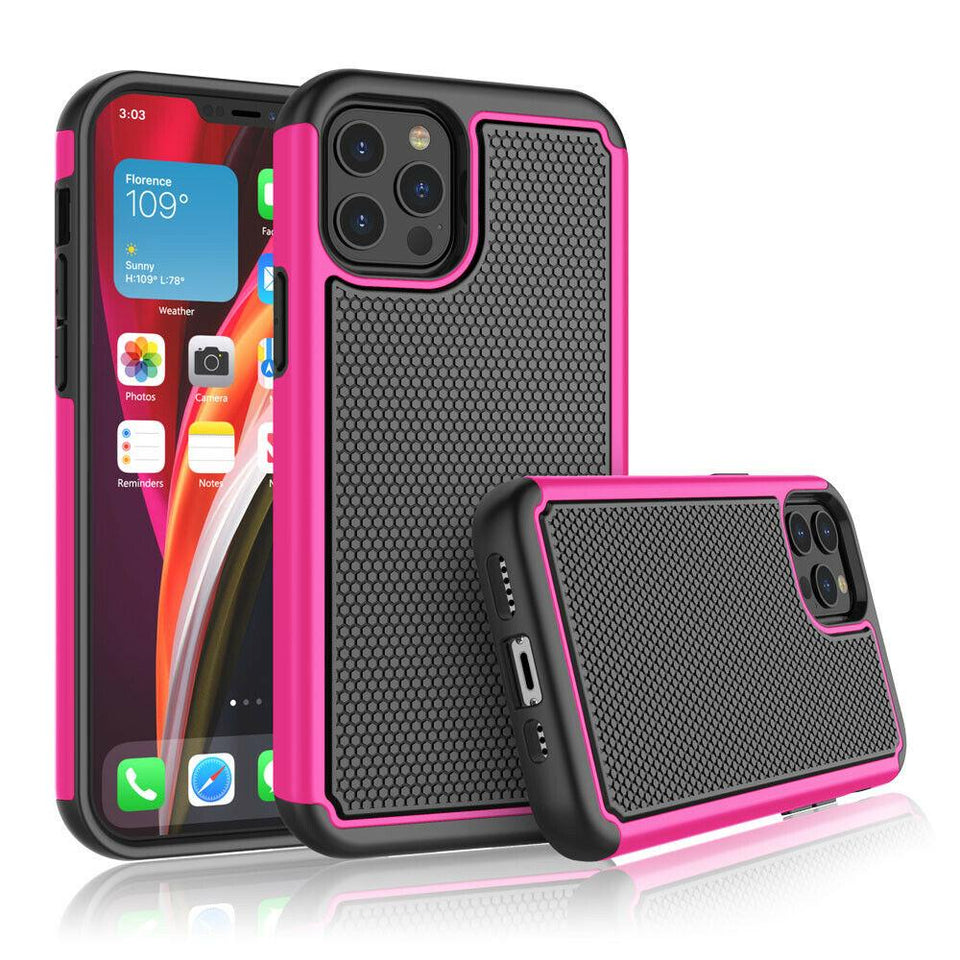 Shockproof Grippy Hybrid iPhone 12 / 12 Pro Case