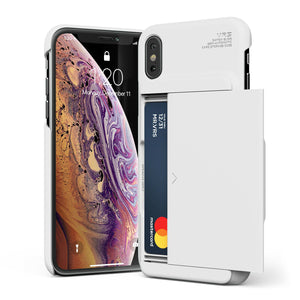 "VRS Damda Glide iPhone Xs Max (6.5"") Wallet Case - Cream White"