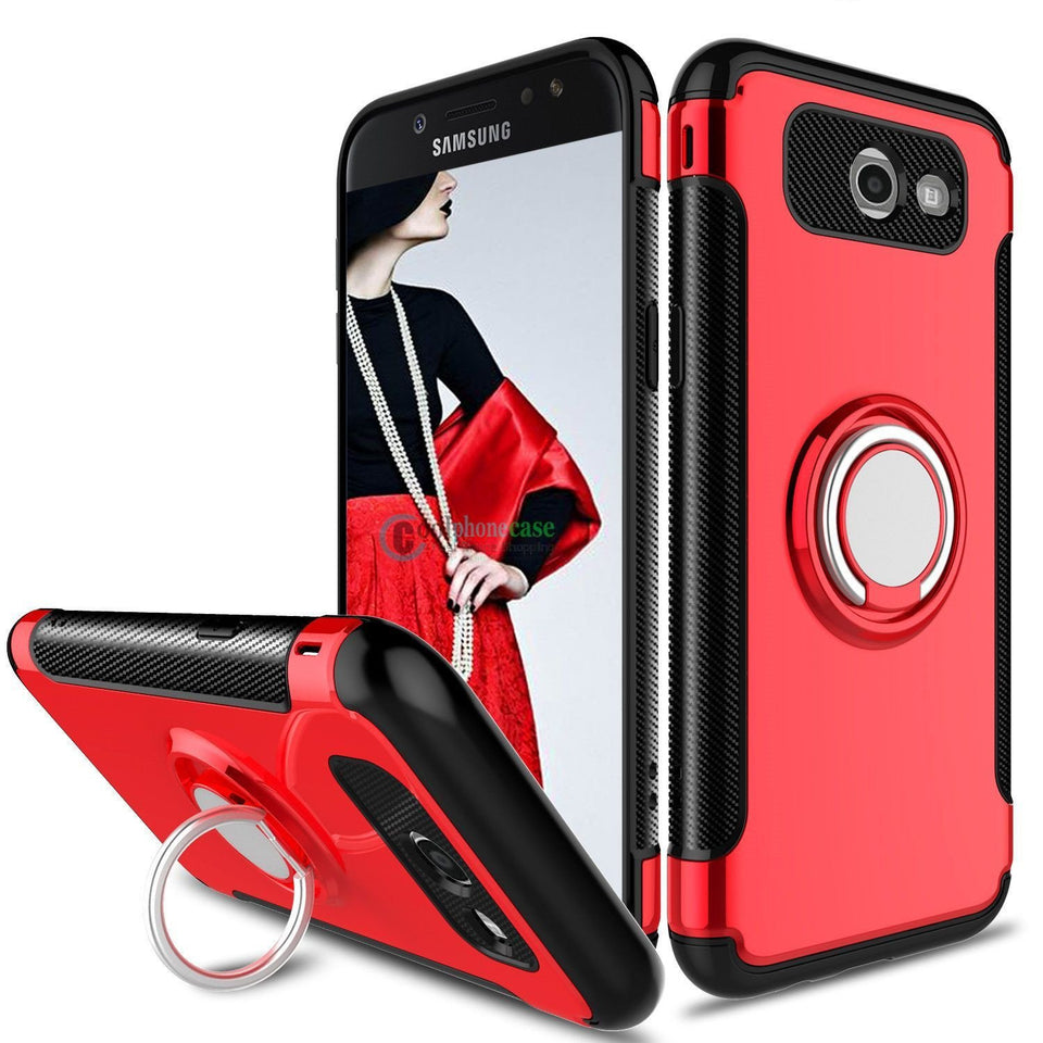 MPC Magnetic Ring Stand Galaxy J7 V / Sky Pro / Perx Case - Red