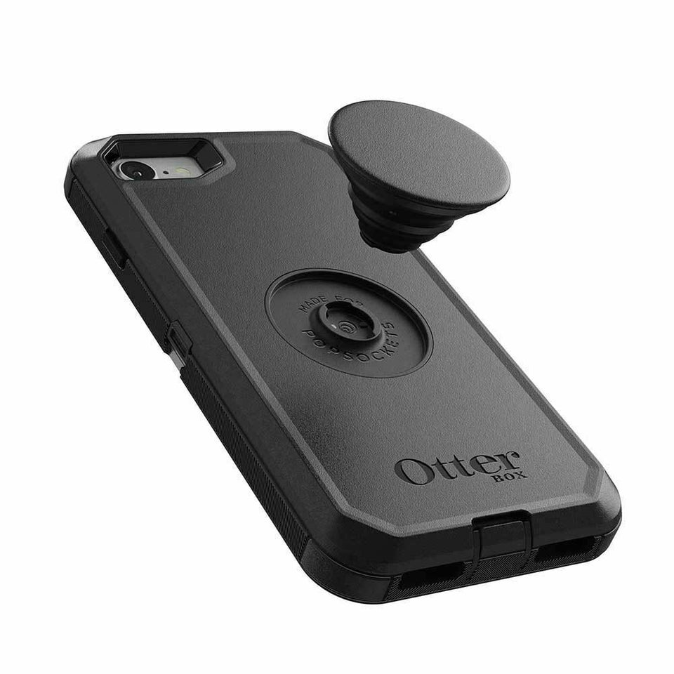 Otter + Pop Defender iPhone 8 / 7 / SE (2020) Case - Black