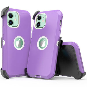 Tough Armor Defender iPhone 12 / 12 Pro Case w/ Holster - Purple