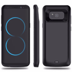 DW Extended Backup Battery Galaxy S8+ Plus Case - Black (5500mAh)