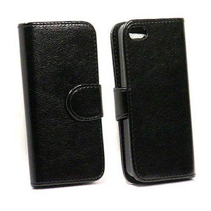 MYBAT Book-Style Leather Wallet iPhone 5S/SE Case - Black