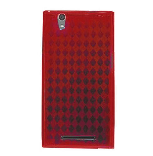 Slim-Fit Argyle TPU ZTE ZMax Z970 Case - Red