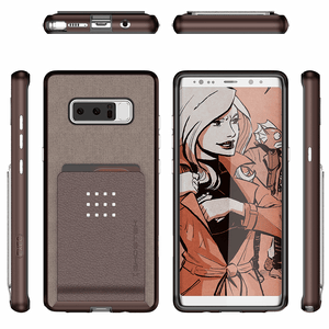 Ghostek Exec 2 Series Galaxy Note 8 Wallet Case - Brown
