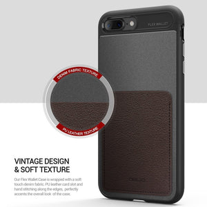 Obliq Flex Wallet iPhone 7 Plus / 8 Plus (5.5 in) Case - Espreso