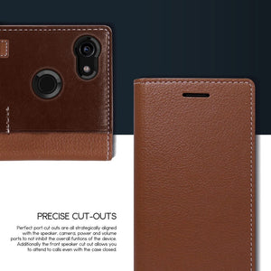 OBLIQ Italian K3 Wallet Google Pixel 3 XL Case - Brown Burgundy