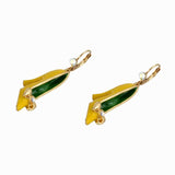 ENAMEL SHOE DROP EARRINGS