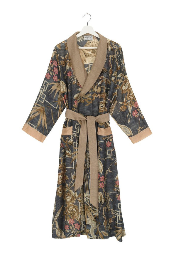 BAMBOO DRESSING GOWN SLATE