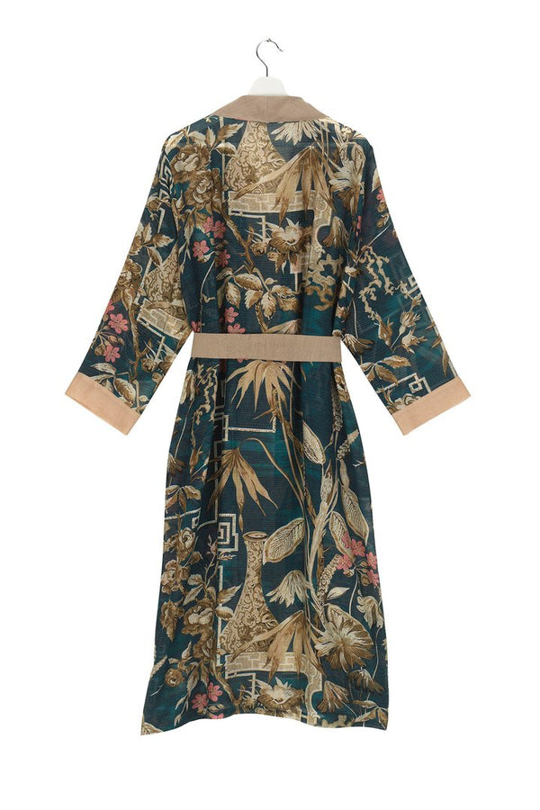 Bamboo Dressing Gown Teal