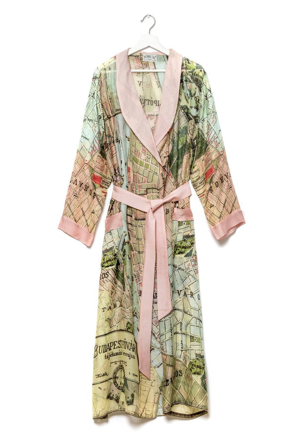 Budapest Map Dressing Gown