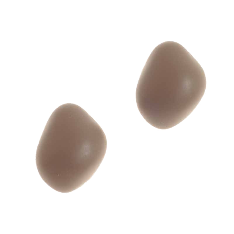 STUD STONE EARRINGS - BOHEME MATTE BROWN