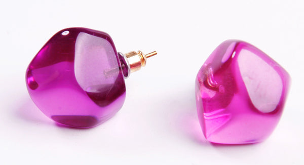 Abstract Camille Earrings - Lilac