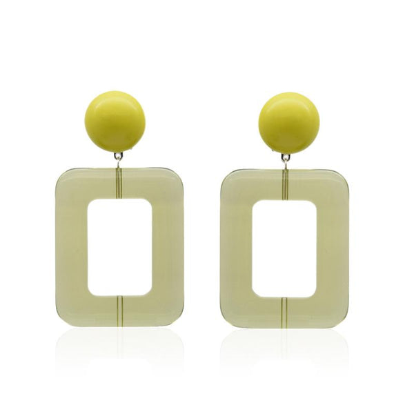 FL Large Rectangular Earrings - Vert Anais