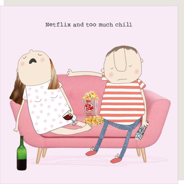 Too Much Chill Greetings Card