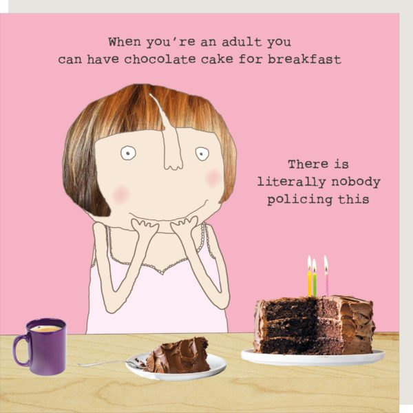 Cake Breakfast Greetings Card