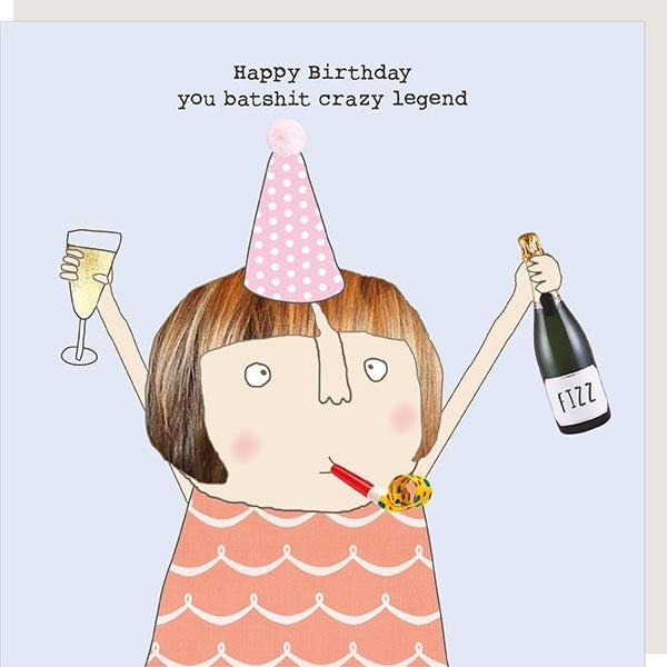 Crazy Legend Greetings Card