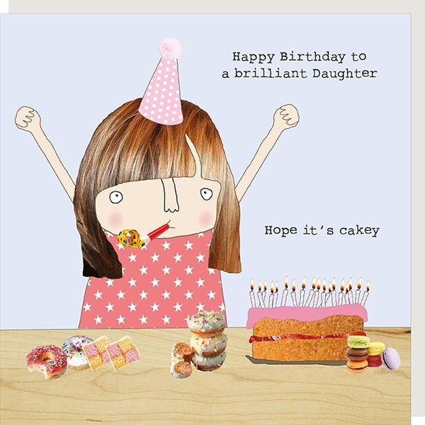 Daughter Cakey Greetings Card