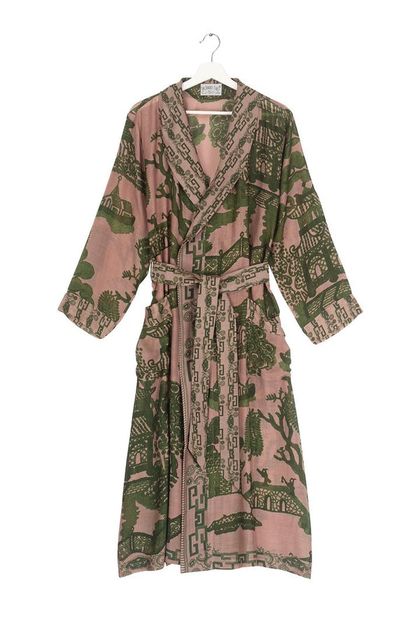 Giant Willow Dressing Gown Green