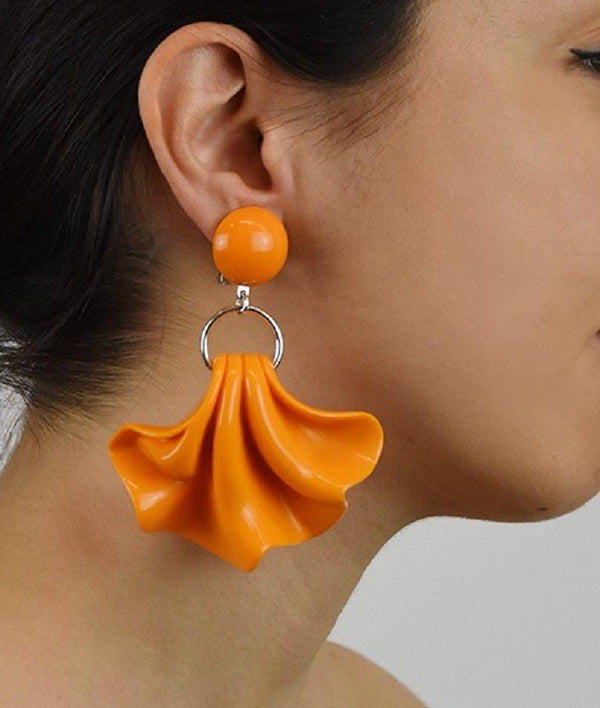 Amelia Statement Earrings - Orange