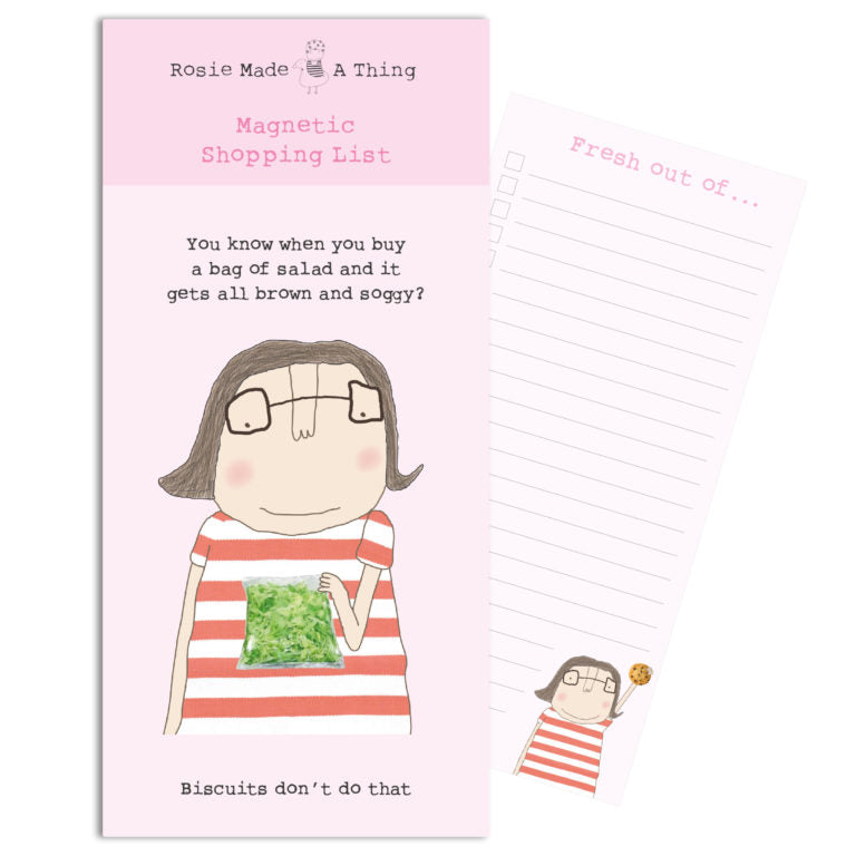 Soggy Salad Magnetic Shopping List Pad