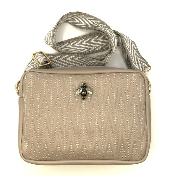 Rivington Cross Body Bag in vegan leather - Taupe