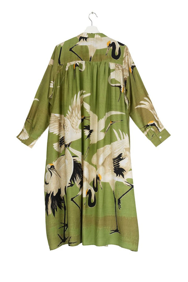 Green Stork Duster Coat