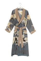 Slate Grey Stork Dressing Gown
