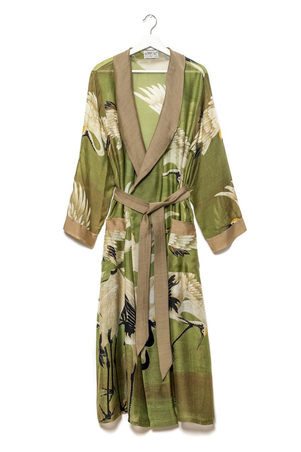 Green Stork Dressing Gown - As seen in the Sunday Times Style Magazine