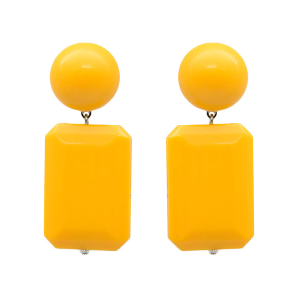 Vendome Rectangle drop Earrings - Yellow