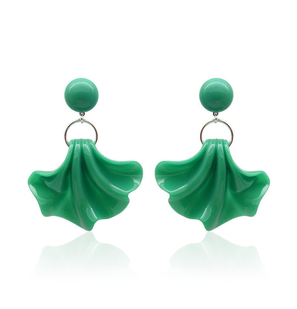 Amelia Statement Earrings - Green