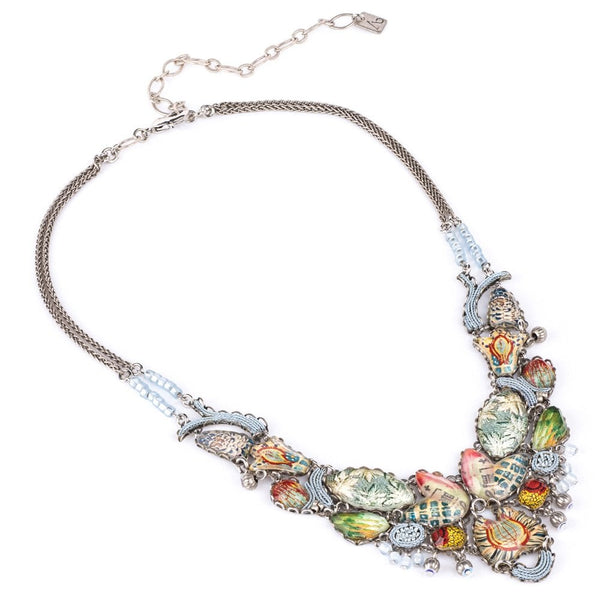 Marble Beach Radiance Large Statement Necklace - R3224