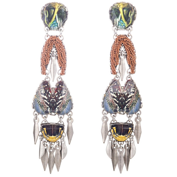 Mother Earth Radiance Long Drop Post Earrings - R1490