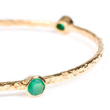 Stacking Bangle with semi-precious stones (gold/green onyx)
