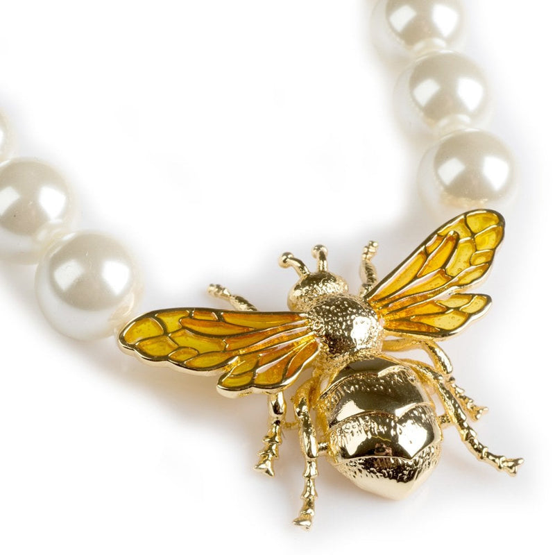 Queen Bee Pearl Necklace - BS-NW0923-G