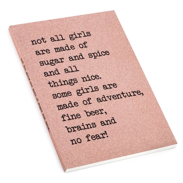 Not All Girls Are Made Of Sugar A5 Notebook - UDA7