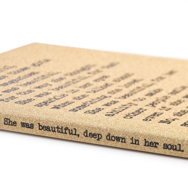 She Was Beautiful A5 Notebook - UDA3