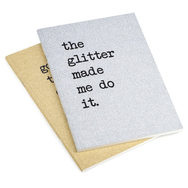 Two Pack A5 Notebooks The Glitter Made Me Do It - UDB1