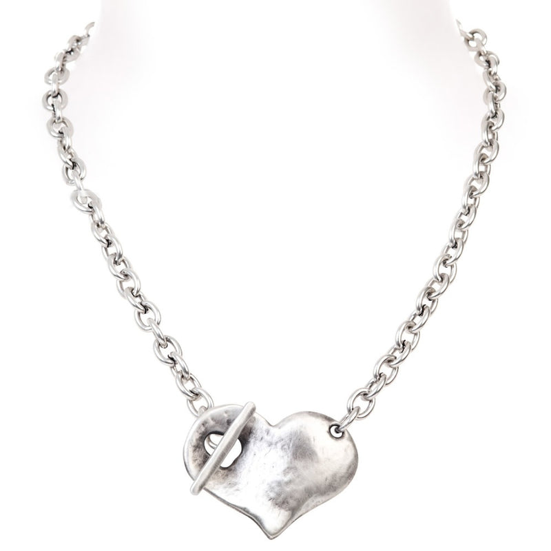 concave heart necklace (silver)