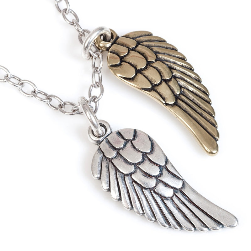 long angel wings necklace (mix)
