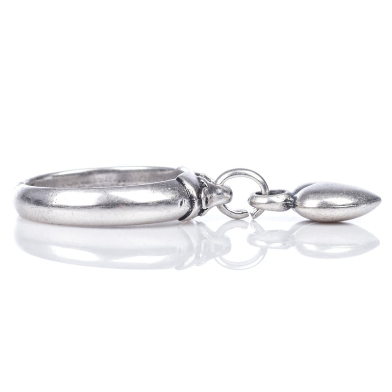 ring with rounded heart charm