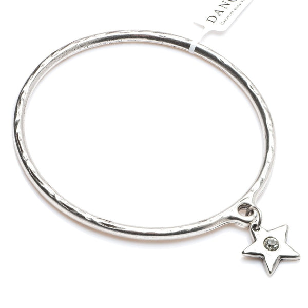Star with Crystal Bangle Silver Plated - 3904