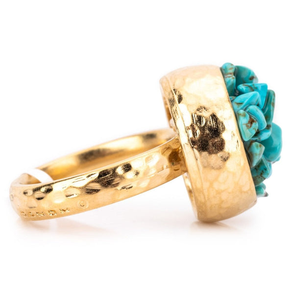 Timna Ring Gold Plated Turquoise - 1047