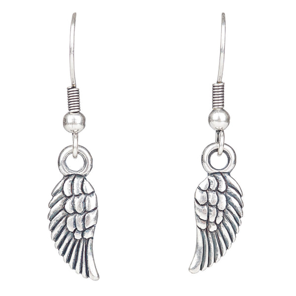 Angel Wing Drop Earrings