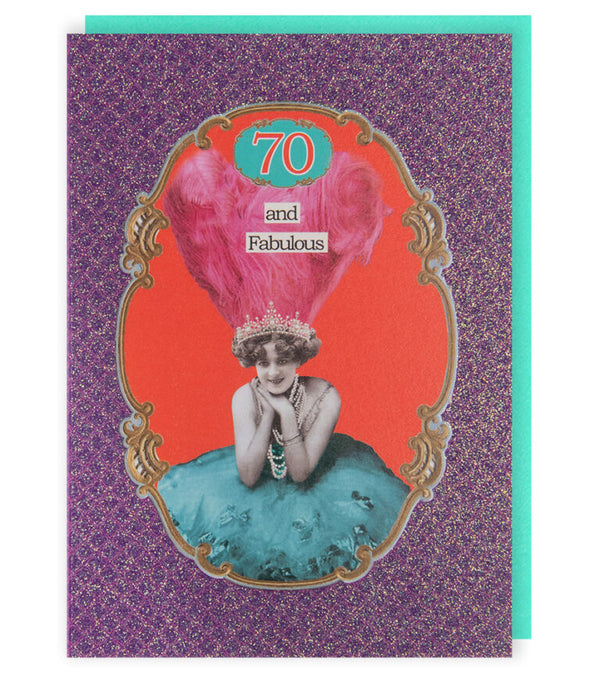 AGE 70 Greetings Card