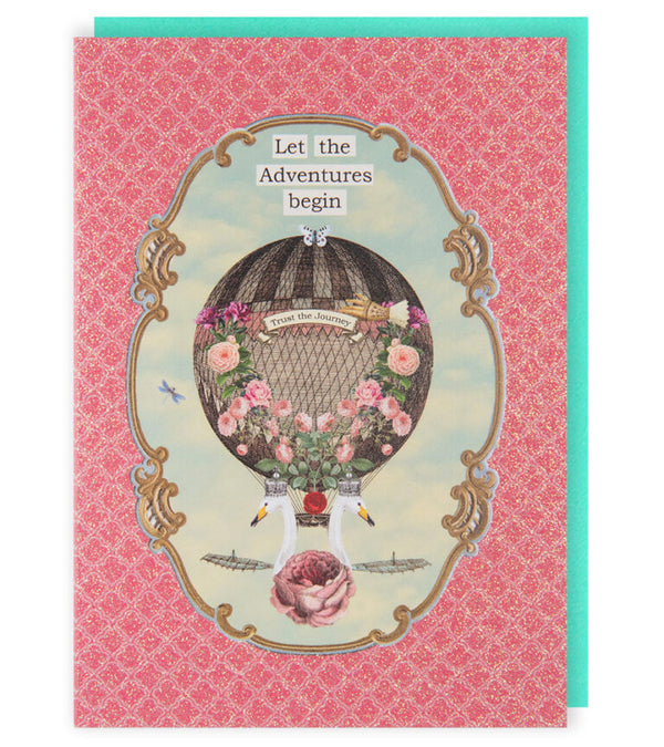 Let The Adventures Begin Greetings Card
